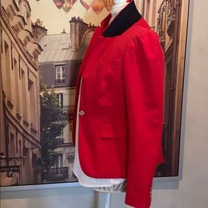 J. Crew Puffed Sleeve Red Blazer 6